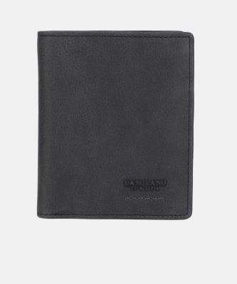 Da Milano Men Casual Blue Genuine Leather Wallet(14 Card Slots)