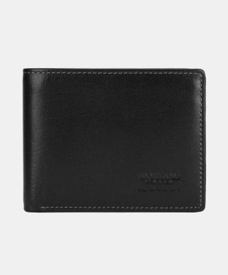 Da Milano Men Casual Black Genuine Leather Wallet(3 Card Slots)
