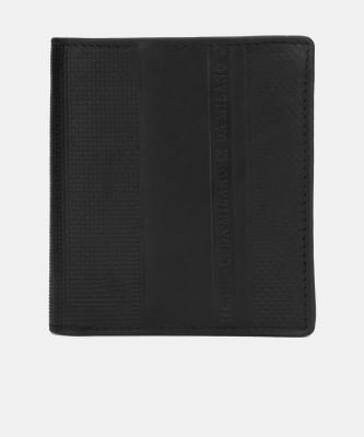 Da Milano Men Casual Black Genuine Leather Wallet(4 Card Slots)