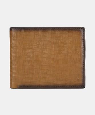 Da Milano Men Casual Brown Genuine Leather Wallet(10 Card Slots)