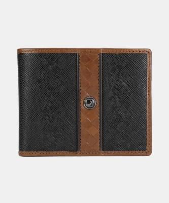 Da Milano Men Casual Black, Brown Genuine Leather Wallet(4 Card Slots)