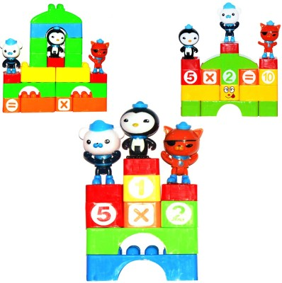 Planet of Toys 60 Pcs Classic Construction Building Blocks Games with Carrying Bag For Kids, Children Multicolor