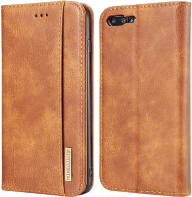 Dg Ming Flip Cover for Apple iPhone 7 Plus iPhone 8 Plus(Brown, Dual Protection)