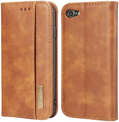 Dg Ming Flip Cover for Apple iPhone 7 iPhone 8(Brown, Dual Protection)