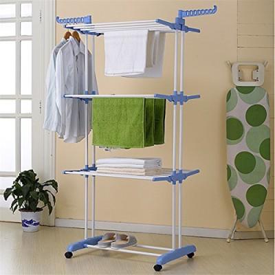 HOMEMATE Steel Floor Cloth Dryer Stand HM08(3 Tier)