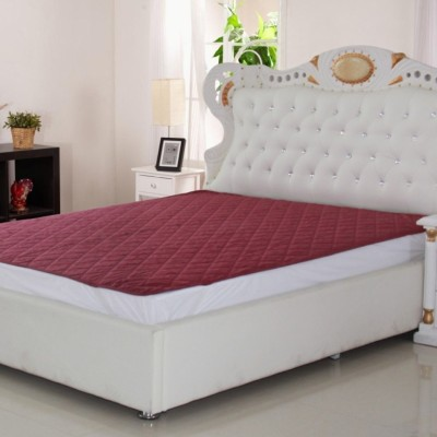E-Retailer Fitted Queen Size Mattress Protector(Pink)