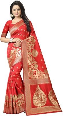 G-Stuff Fashion Embellished Fashion Jacquard Saree(Red)