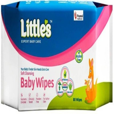 Little's Soft Cleansing Baby Wipes  80 Pieces  80 Wipes