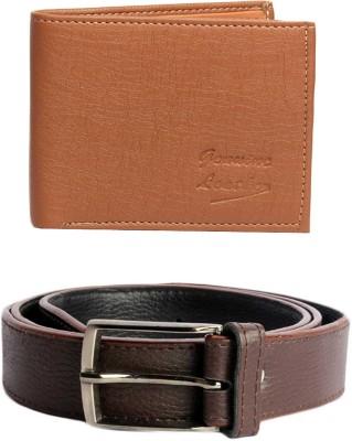 Good Life Stuff Wallet, Belt Combo(Brown)