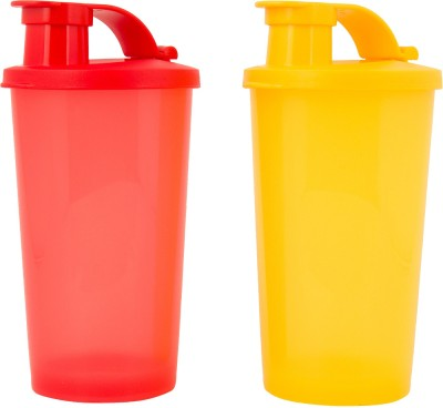 Tupperware Tumbler with Sipper Pack of 2 (Red , Yellow) Each 330 ml Sipper(Pack of 2, Red, Yellow)