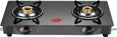 Pigeon Brunet Glass, Stainless Steel Manual Gas Stove(2 Burners)