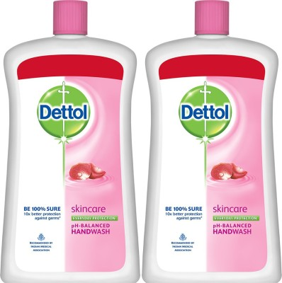 Dettol Liquid Handwash Soap Jar, Skincare - 900 ml Bottle(2 x 900 ml)