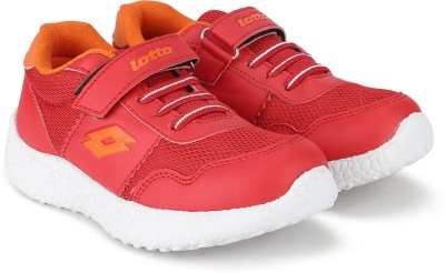 Lotto Boys & Girls Lace Running Shoes(Red) at flipkart
