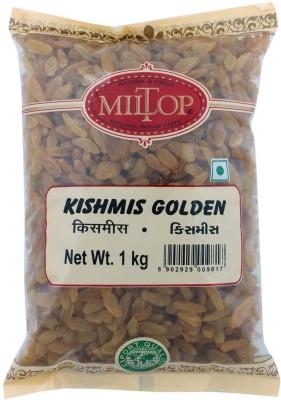 MilTop kishmish golden Raisins(1 kg, Pouch)