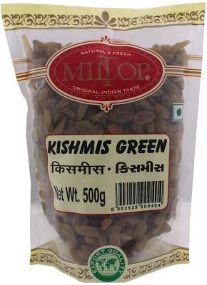 MilTop Kishmish Green Raisins(1 kg, Pouch)
