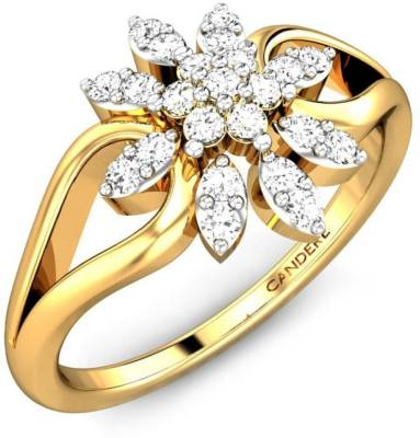 Candere by Kalyan Jewellers Cubic Zirconia Collection 22kt Cubic Zirconia Yellow Gold ring