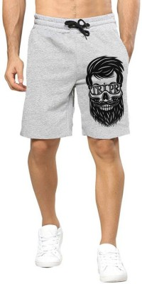 Tripr Graphic Print Men Grey Regular Shorts