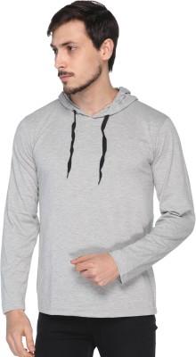 Shaun Printed Men Hooded Neck Grey T-Shirt
