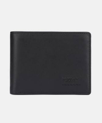 Da Milano Men Casual Black Genuine Leather Wallet(8 Card Slots)
