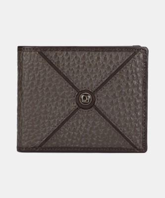 Da Milano Men Casual Brown Genuine Leather Wallet(3 Card Slots)
