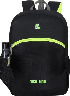 NICE LINE BLACK BACKPACK01 Rucksack  - 35 L(Black)