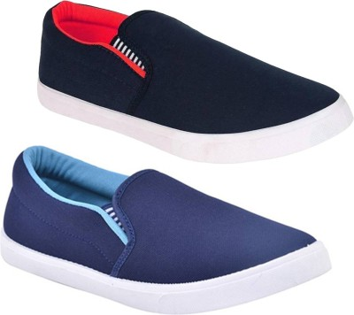 BRUTON Combo Pack Of 2 Casual Shoes Slip On Sneakers For Men(Multicolor)