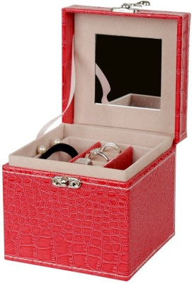 GeorgiaUSA Tall Square shape jewellery box JEWELLERY, cosmetic items Vanity Box(Red)