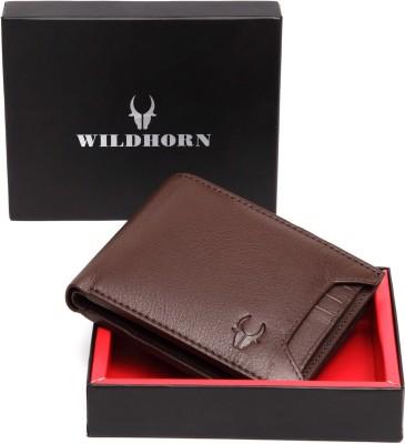 WildHorn Men Formal Brown Genuine Leather Wallet