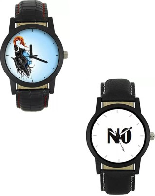 Relief Stylish Lord Shiva   No Printed Leather Mens Watch Analog Watch   For Men Relief Wrist Watches