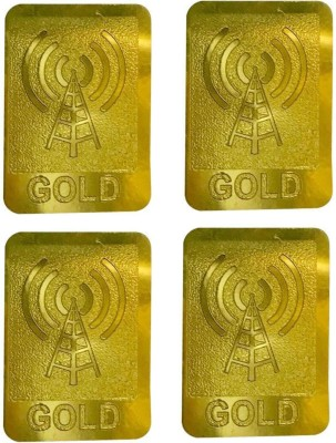 Dcentx Anti Radiation Patch/Chip/Sticker (Gold) For All Type Of Electronic Devices(Pack of 4) Anti-Radiation Sticker(Laptop, Phone, Tablet, Mobile)