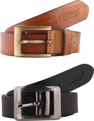 Fashno Belt, Belt Combo(Tan, Black)