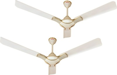 QUALX RAPID-DX 1200 mm 3 Blade Ceiling Fan(IVORY, Pack of 2)