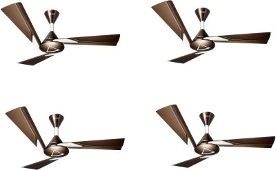 Orient Electric ORINA CHOCOLATE BROWN IVORY 1200 mm 3 Blade Ceiling Fan(Brown, Pack of 2)