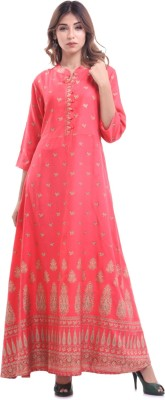 AWESOME WEAR Women Solid Anarkali Kurta(Red)