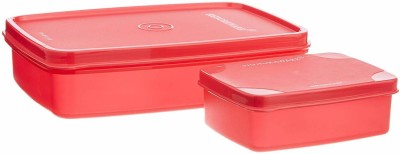 Signoraware Compact small red 2 Containers Lunch Box 700 ml