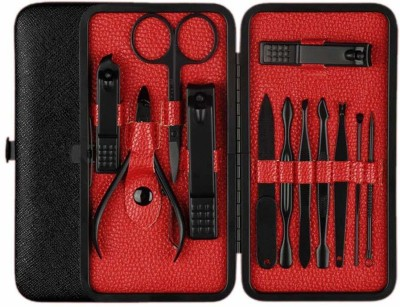 Zahuu Manicure Set In a Leather Case(0 ml, Set of 12)