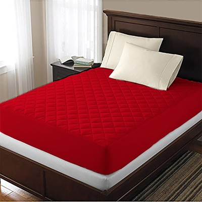 AVI Fitted King Size Waterproof Mattress Protector(Red)