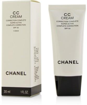 Chanel CC Cream Super Active Complete Correction SPF 50 # 10 Beige_3078(30 ml) at flipkart