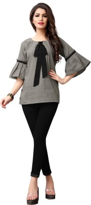 G-Stuff Fashion Casual Bell Sleeve Solid Women