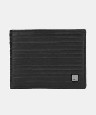 Da Milano Men Black Genuine Leather Wallet(6 Card Slots)