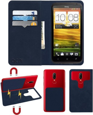 ACM Flip Cover for Htc One X(Blue, Cases with Holder)
