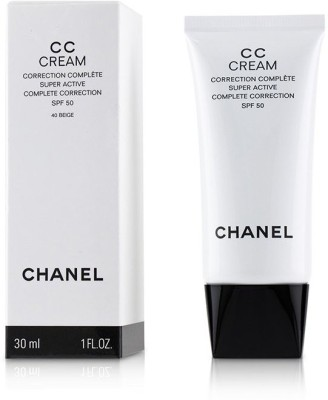 Chanel CC Cream Super Active Complete Correction SPF 50 # 40 Beige_4544(30 ml) at flipkart