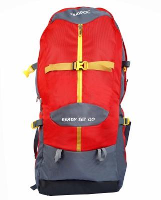 TRAWOC SHK009-RED Trekking Bag Hiking Backpack Travel Rucksack  - 55 L(Red)