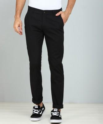 Flying Machine Slim Fit Men Black Trousers