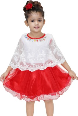 3cb4db9af5d Flipkart. Mojua Girls Midi/Knee Length Party Dress(Red, Cap Sleeve) best  price