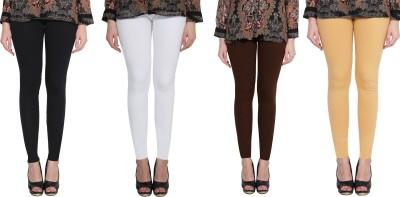 Aditi Fashion Ankle Length  Legging(White, Gold, Brown, Black, Solid)