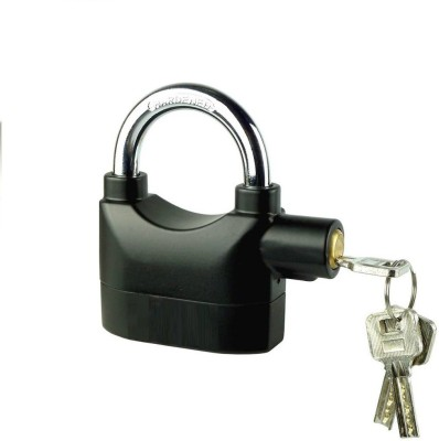 Mezire ® Anti-Theft Security Alarm Padlock Safety Lock  (Black) Safety Lock(Black)
