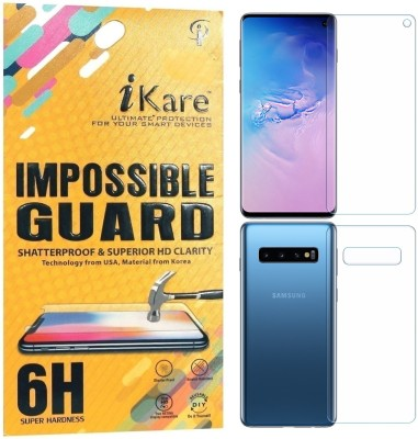 iKare Front and Back Screen Guard for Samsung Galaxy S10(Pack of 1)