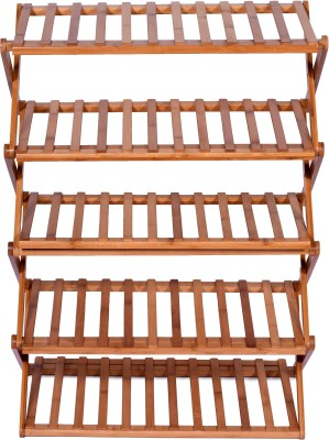 Haneez Solid Wood Shoe Rack(5 Shelves)