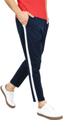 Young Trendz Solid Men Dark Blue Track Pants